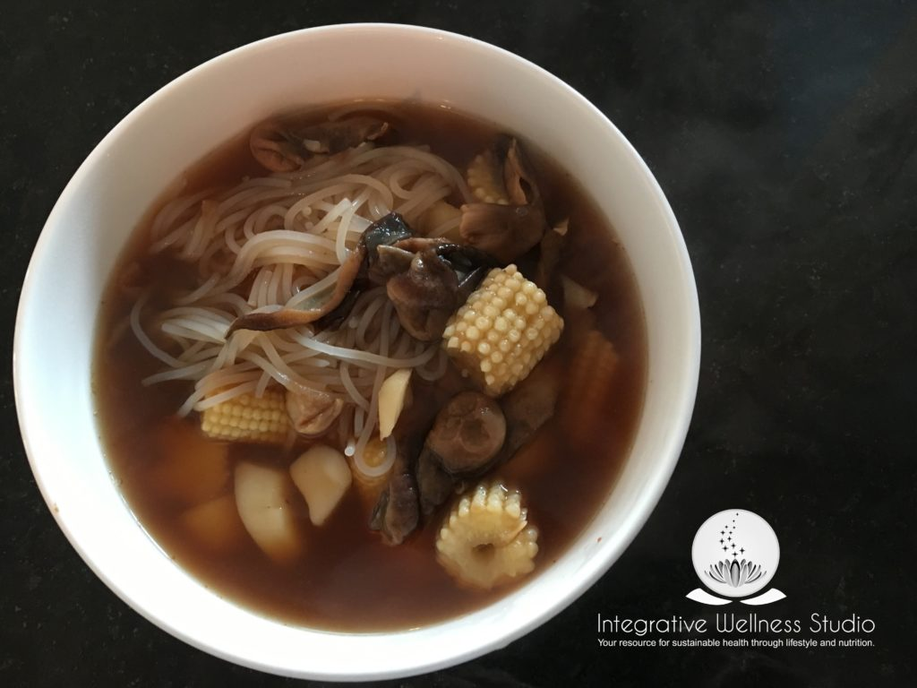 Chinese Corn and Mushroom Soup Gluten Free recipe